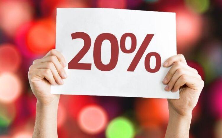 -20% na dania z karty menu w każdą niedzielę